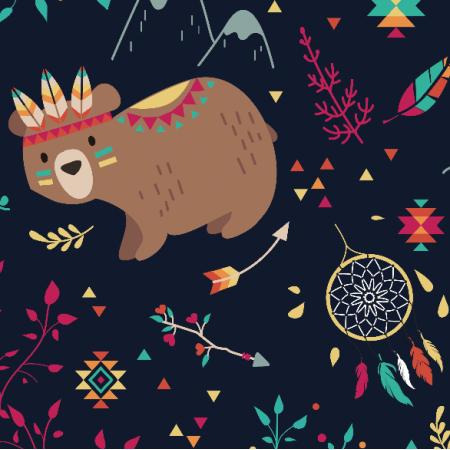 Fabric 2124 | Tribal Adventure - navy