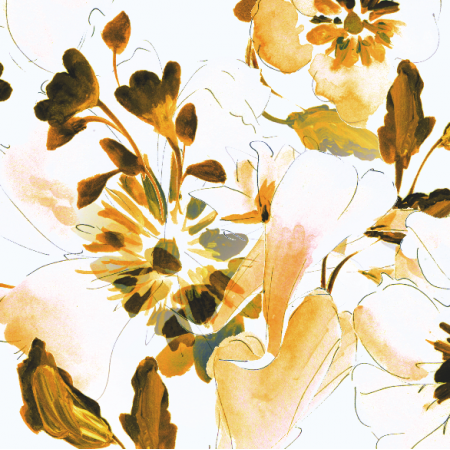 Fabric 19708 | topaz floral pattern
