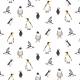 Tkanina 19732 | penguins & Puffins