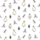 Tkanina 19732   penguins & Puffins