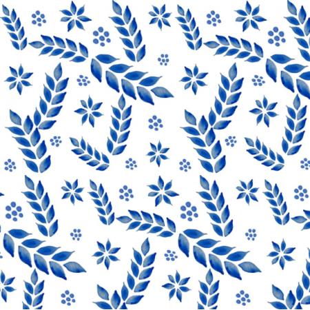 Fabric 19751 | niebieskie kłosy