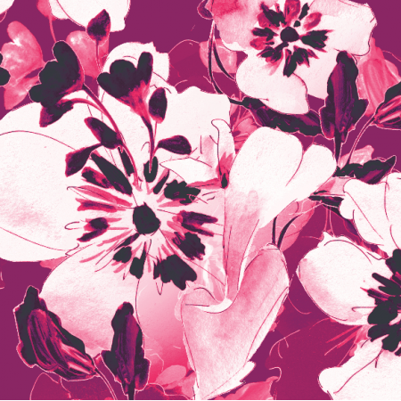 Fabric 19775 | cyclamen floral pattern