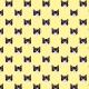 Fabric 19786 | B&W cats yellow