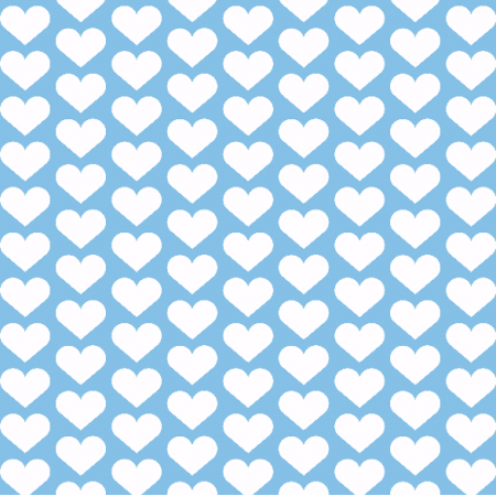 Fabric 2136 | blue hearts