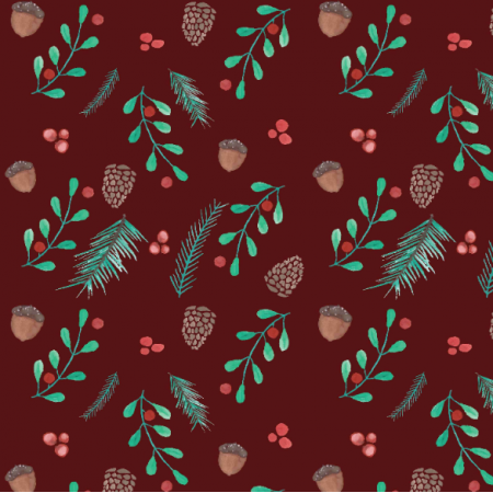 Fabric 19838 | Forest burgundy