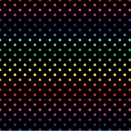 Fabric 19843 | teczowe kropeczki / black / medium
