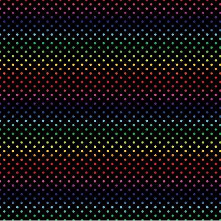 Tkanina 19844 | teczowe kropeczki / black / small