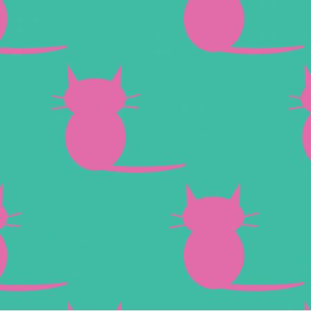 Tkanina 19848 | kotki pink / minty xl