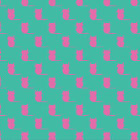 Fabric 19852 | kotki pink / minty small