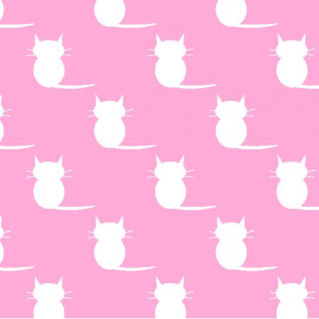 Fabric 19854 | kotki pink / white medium