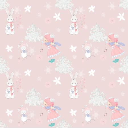 Fabric 19956 | Zimowa kompozycja pink small