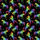 Fabric 19989 | Teczowe jednorozce xl