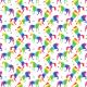 Fabric 19992 | Teczowe jednorozce white small