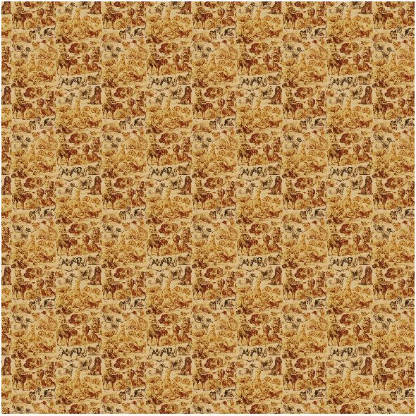 Fabric 20004 | PSIARNIA W ODCIENICH BRĄZU  - BROWN KENNEL