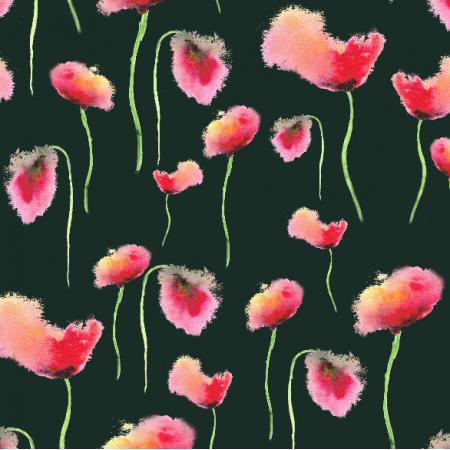 Fabric 20017   Malowane maki  - akwarele