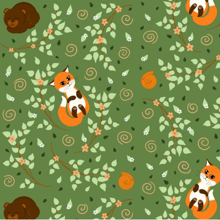 Fabric 20063 | leśne śpioszki (wiosna)