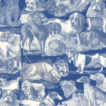 Fabric 20098 | PSIARNIA NA GRANATOWO