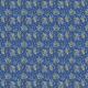 Fabric 20110 | POLNE KWIATY I NIEBIESKIE MOTYLE NA pANTONE cLASSIC bLUE