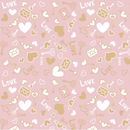 Tkanina 20125 | lOve pink
