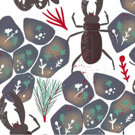 Tkanina 20159 | Summer bugs