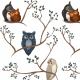 Tkanina 20162   Awww owls 2