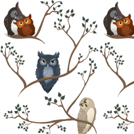 Fabric 20162 | Awww owls 2