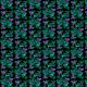 Fabric 20223   koliberki (czarne tło)