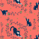 Fabric 20273 | cats and gold roses