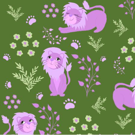 Fabric 20278 | I am a lion (green)