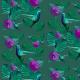 Tkanina 20291   Koliberki (zielone)2