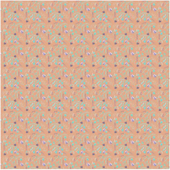 Fabric 20337 | orange flo