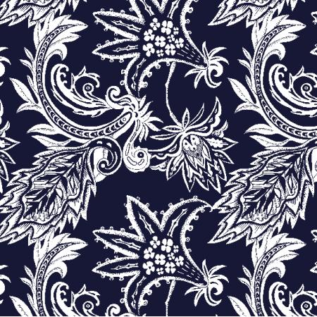 Fabric 20356 | Amiya dark blue