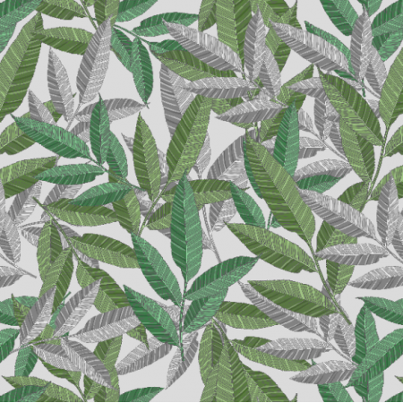 Tkanina 20465 | Leaf World Pattern