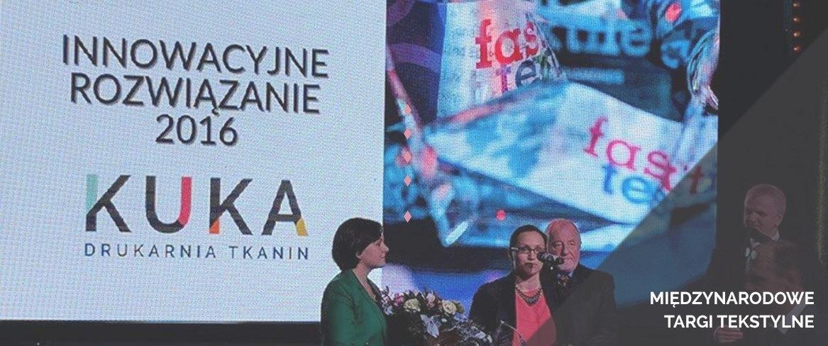 Nagroda za Innowacyjne Rozwiązanie w druku na tkaninach, na Międzynarodowych Targach Tekstylnych