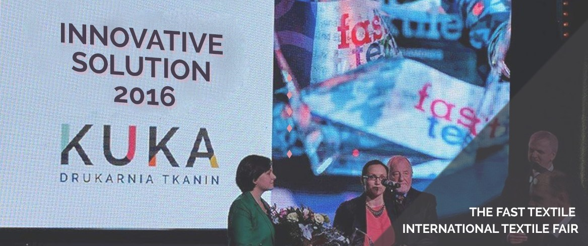 Award in the competition for innovations in textile printing - Innovative Solution ku-ka.pl